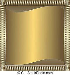 黃金, 框架, 發光, 銀色