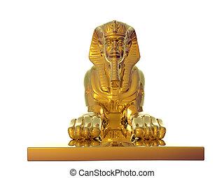 黃金, 獅身人面像