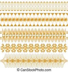 黃金, 矢量, 修剪, 彙整
