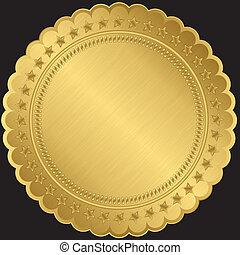 黃金, 矢量, 標簽, 空白