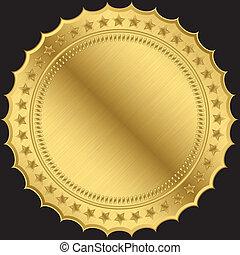 黃金, 空白, 標簽, 矢量