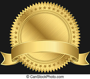 黃金, 空白, 標簽