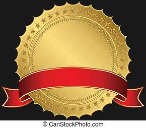 黃金, 空白, 紅色, 標簽