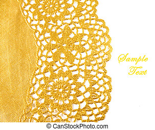 黃金, 紡織品, 邊框, 由于, 模仿空間
