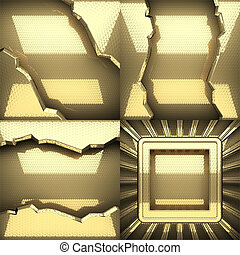 黃金, 結構, 背景, 集合