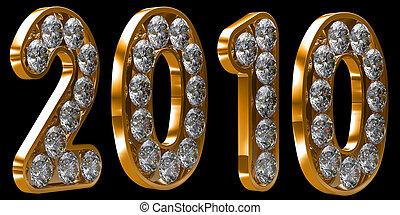黃金, 2010, 年, 被在表面形成硬殼, 由于, 鑽石