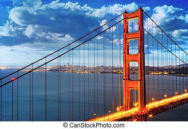 黃金,  francisco,  San, 橋梁, 門