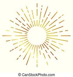 黃金, sunburst