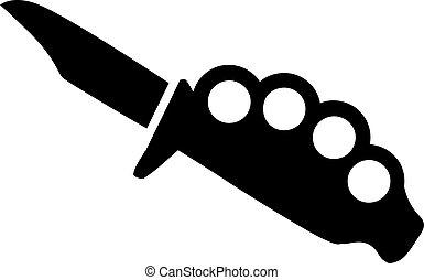 黃銅指關節, 由于, 刀