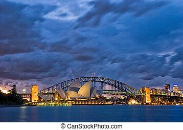 黄昏, 悉尼港口