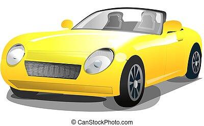 黄色の客貨車, イラスト