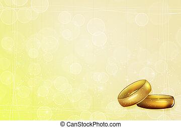 黄色の背景, 結婚式