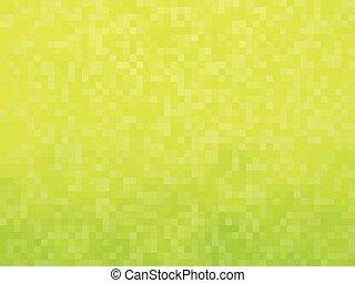 黄色緑, モザイク, 背景