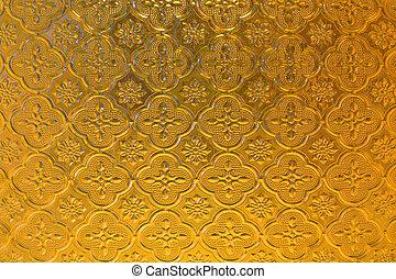 黄色, ステンドグラス, 背景