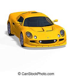 黄色, ファンタジー, レースカー