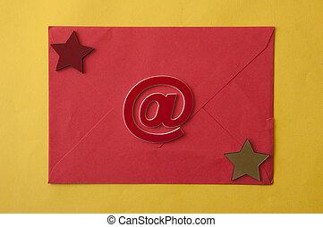 黄色, ペーパー, 封筒, 背景