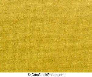 黄色, ペーパー, 手ざわり, 背景