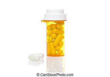 黄色, 丸薬 びん