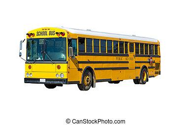 黄色, 学校, bus.