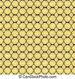 黄色, 幾何学的, ハチの巣, 抽象的, seamless, textured, パターン, 背景