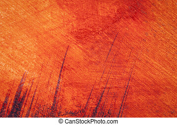 黄色, 水彩画, 抽象的, 背景, オレンジ, 赤