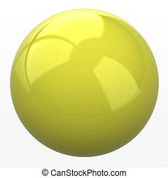 黄色, 球