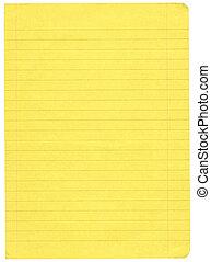 黄色, 罫線付きのペーパー