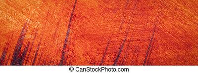 黄色, 背景, 水彩画, オレンジ, 赤, 抽象的