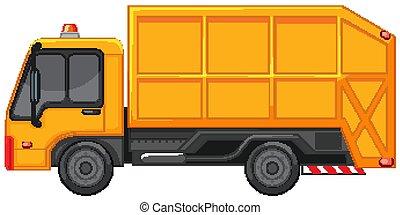 黄色, 色, ごみ収集車