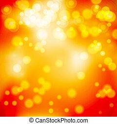 黄色, 赤い背景, 白熱