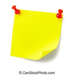 黄色, 陰, メモ, 付せん