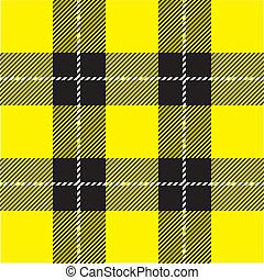 黄色, plaid, パターン, tartan