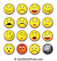 黄色, smileys