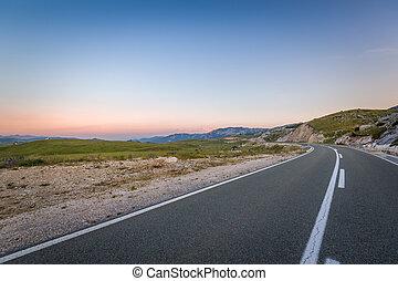 黑山, 山, zabljak, resort., 高速公路