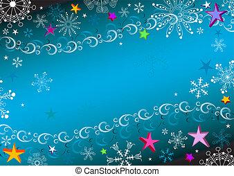 黑暗, 藍色, 框架, 聖誕節