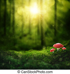 黑暗, 魔術, 森林