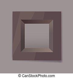 黑暗, chrom, 框架, 金属, 空白