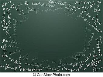 黑板, 公式, 數學