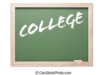 黑板, -, 學院