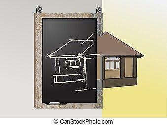 黑板, 建筑, 规划