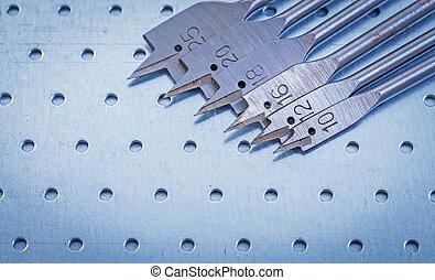 黑桃, 位元, 為, 操練, 木頭, 上, 打孔, 金屬, 表, 建立
