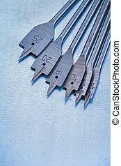 黑桃, 位元, 為, 操練, 木頭, 上, 金屬, 背景, 建設