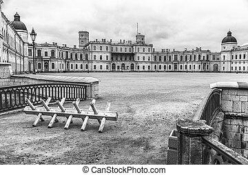 黑白, 形象, 在中, the, 皇家的宫殿