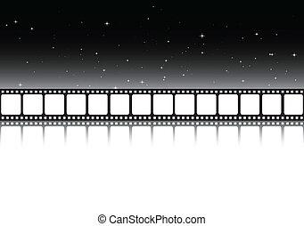 黑的背景, 電影院
