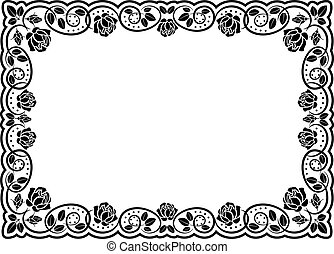 黑色半面畫像, 上升, 邊框