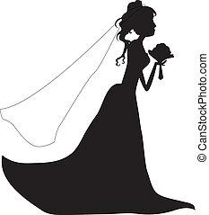 黑色半面畫像, 婚禮, 女孩