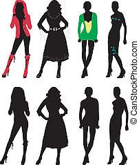 黑色半面畫像, 時裝, 女孩