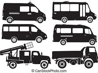 黑色半面畫像, 汽車, 矢量