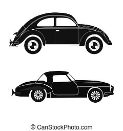 黑色半面畫像, 汽車