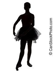 黑色半面畫像, ......的, 年輕, 跳舞, 芭蕾舞女演員